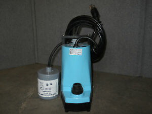 Little Giant 1 6 Hp Submersible Utility Pump With 120vac Npt 1 F 10 Ft Cord