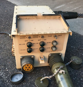Military Dual Generator Synch Box 100a Power Cables Sn 571 m v 120 208 3ph