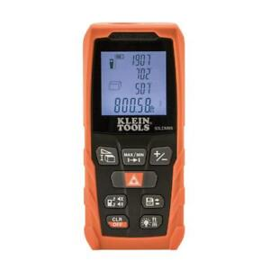 Klein Tools Laser Distance Measure 65 Ft Backlit Display W Carrying Pouch New