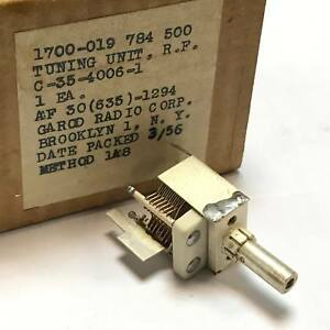 Air Variable Capacitor With Removable Inductor C 35 4006 1 Tuning Unit Rf Usa