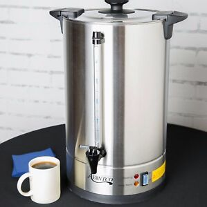 Big Coffee Urn Stainless Steel Commercial Office Coffee Maker Station 110 Cup Us