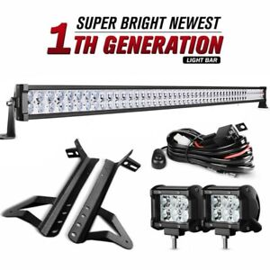 42inch Offroad 4d Led Light Bar Curved 22in Combo 4x 4 Pods For Ford 4x4 Jeep