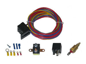 Single Or Dual Electric Fan Relay Thermostat Kit