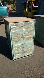 Vintage Steel Storage Cabinet 10 Drawer Art Cabinet