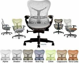 Herman Miller Mirra Adjustable Home Office Desk Chair Shadow Back Graphite Frame