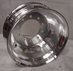 24 5 10 Lug Hub Pilot Machined Dual Dually Wheels Rims