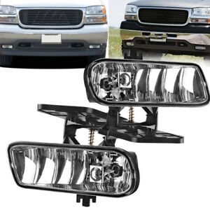For 1999 2002 Gmc Sierra 2001 2006 Gmc Yukon Replacement Bumper Fog Lights Lamps