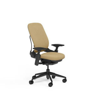 New Large Steelcase Leap Plus Adjustable Desk Chair Buzz2 Barley Fabric 500 Lb