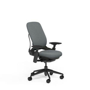 New Large Steelcase Leap Plus Adjustable Desk Chair Buzz2 Grey Fabric 500 Lb
