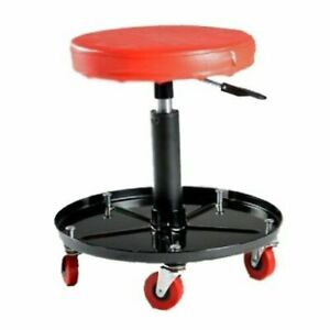 Pit Bull Adjustable Rolling Mechanic Seat Workshop Roller Stool With Tool Tray