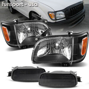 For 2001 2004 Toyota Tacoma Headlights Corner Signal Lamps Bumper Light Pair