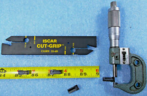 New Iscar Cut grip Cghn 32 6d Cut Off Grooving Blade And 4 Insert 5 16 Wide
