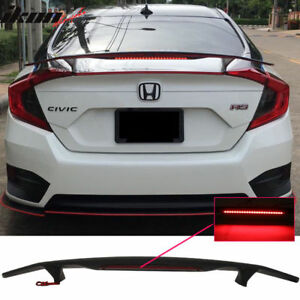 2016 2018 Honda Civic 4 Door Sedan Painted Custom Style Rear Spoiler Wing New