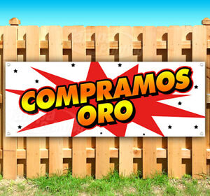 Compramos Oro Advertising Vinyl Banner Flag Sign Many Sizes Usa Spanish