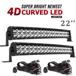 20inch 294w Led Light Bar Flood Spot Combo Offroad Jeep Suv Atv 4wd Bike Drving