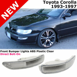 Toyota Corolla E100 93 97 Front Bumper Signal Light Lamp Clear Lens
