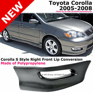 Toyota Corolla 05 08 S Style Front Passenger Lower Body Kit Lip Spoiler Pp Black
