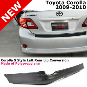Toyota Corolla 09 10 S Style Rear Driver Lower Body Kit Lip Spoiler Pp Black