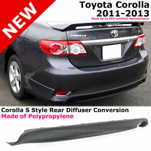 Toyota Corolla 11 13 S Style Rear Diffuser Lower Body Kit Lip Spoiler Pp Black
