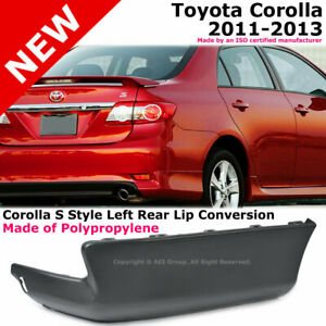 Toyota Corolla 11 13 S Style Rear Passenger Lower Body Kit Lip Spoiler Pp Black