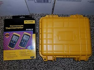 Fluke Thermocouple Thermometer 52 Ll New In Box With New Hard Case