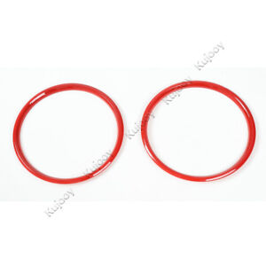 Red Abs Door Speaker Ring Trim Frame Cover Stick Decor For Ford Mustang 15 16
