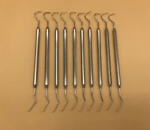 12 Dental Probe Explorer 5 Surgical Denture Instrument Non stick