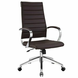 Modway Jive Modern High Back Office Chair In Brown