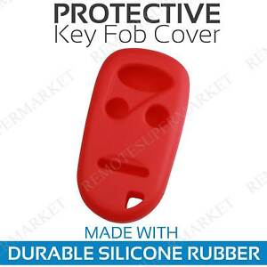 Remote Key Cover Case For 1996 1997 1998 1999 2000 2001 2002 Honda Accord Red