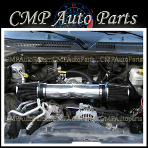 Black 2003 2008 Dodge Ram 1500 2500 3500 5 7l V8 Dual Twin Air Intake Kit