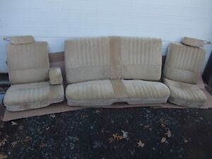 1978 1987 Regal Monte Carlo Cutlass 442 Seats Front And Rear Tan Very Nice Oem