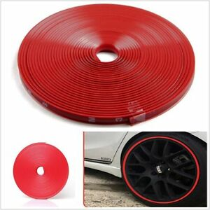 Nice F Car Wheel Rim Edge Protector Ring Tire Guard Sticker Line Rubber Strip 8m