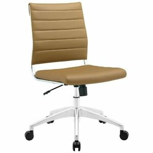 Modway Jive Armless Office Chair In Tan