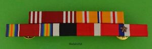 WWII Army Philippines Asia Pacific Service Mounted 5 Ribbon Bar WW2 $19.49
