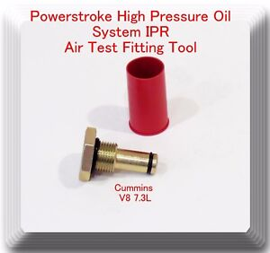Air Test Fitting Tool For V8 7 3l Powerstroke High Pressure Oil System Ipr