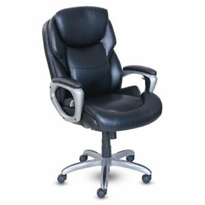Serta At Home My Fit Executive Office Chair With Active Lumbar Support