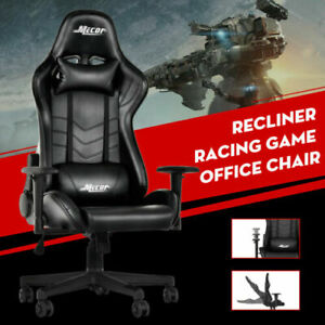 Recliner Ergonomic High Back Racing Gaming Chair Leather Office Chair W armrest