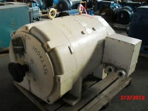 300 Hp Dc Westinghouse Electric Motor 850 Rpm 686as Frame Dpfv 550 V Arm