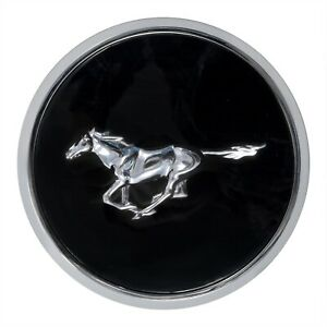 1979 1982 Ford Mustang Front Hood Emblem Black Chrome 3 25 Running Horse