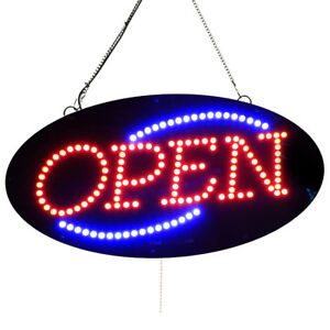 High Quality Led Open Signs Small Oval open 10 x20 Led factory 1852