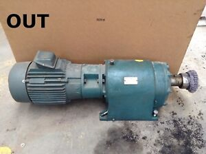 Reliance Electric 210tg28a Gear Drive speed Reducer Gearmotor 10hp 3ph 25 6 1
