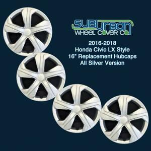 Honda Civic Lx Style 16 Replacement Hubcaps Wheel Covers 6550sm New Set 4
