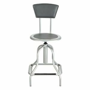 Safco Diesel High Base Drafting Chair In Silver