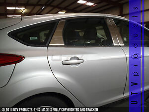 Gtg 2012 2014 Ford Focus 4dr And Hatchback 6pc Chrome Stainless Steel Pillars