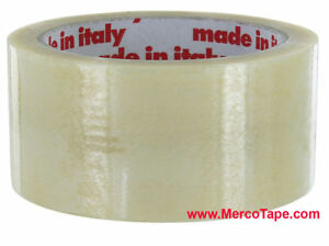 Made In Italy Clear Pvc Carton Sealing Tape 3 X 55yd 24 Rolls Free Ship