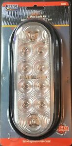 2 New 6 Oval Clear To Amber Lights 10 Diode Led W Grommets And Connector