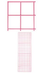 Grid Panel 2 X 6 Set Of 4 Panels Hot Pink Retail Display Craft Wire Gridwall