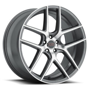 Milanni 9052 Tycoon Rim 22x10 5 5x112 Et42 Graphite Machined Face qty Of 4