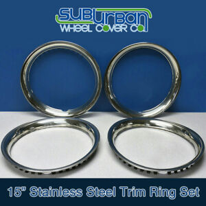 15 Stainless Steel Trim Rings 1 3 4 Depth Beauty Rings Part 1515s New Set 4
