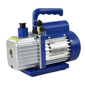 3 5cfm Rotary Vane Vacuum Pump Single Stage Hvac 1 4hp Air Conditioning A c Deep